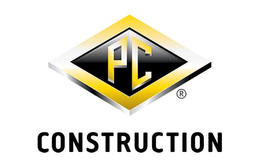PC Construction Logo - Gold