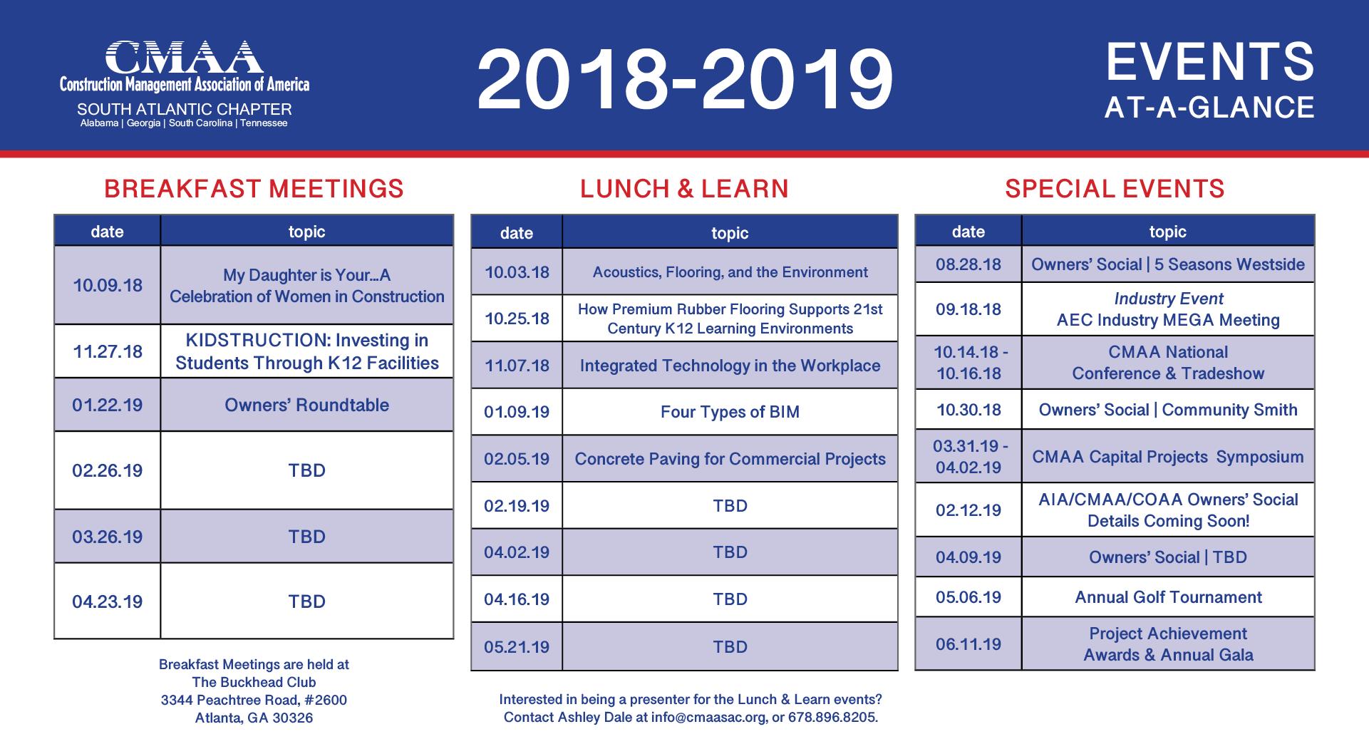 calendar at a glance 2018-19 | 10.18.18
