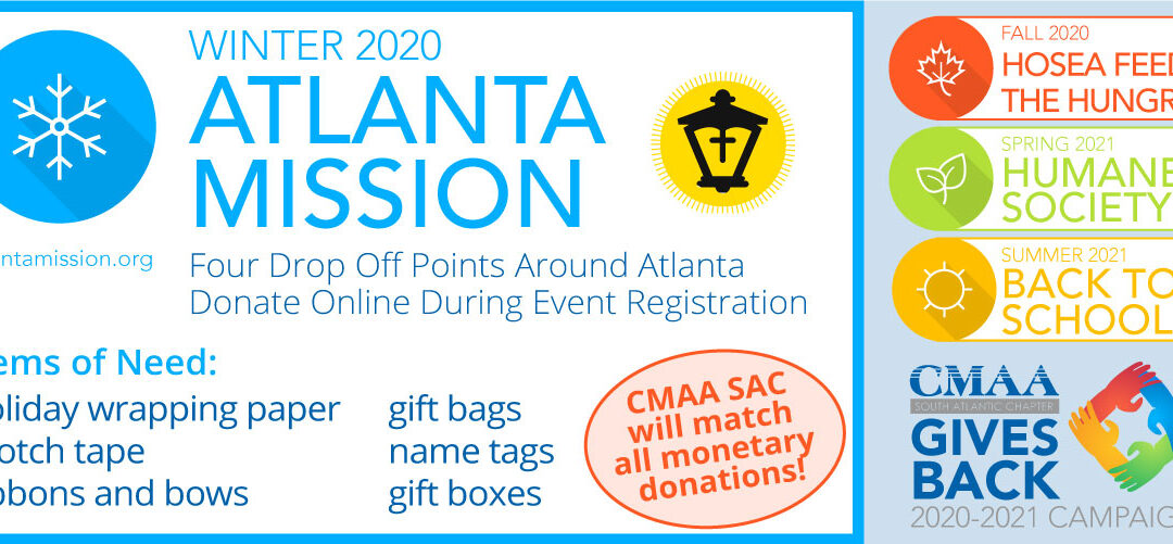 WINTER 2020 | CMAA SAC Gives Back