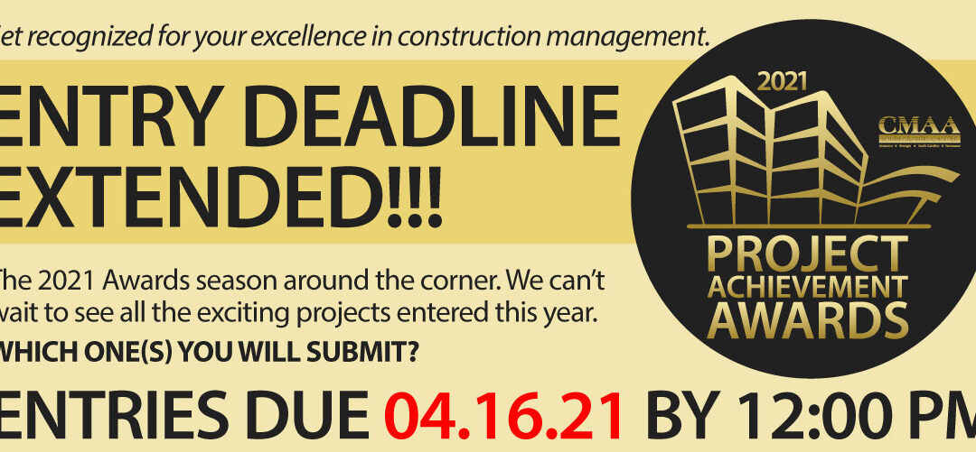 DEADLINE | Project Achievement Awards Entries Due